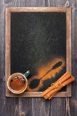 Tasse à café de cannelle — Photo