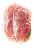 Sliced prosciutto — Stock Photo