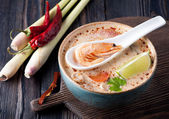 Thai spicy soup. — Stock Photo