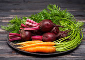 Beets and carrots — Stock Photo