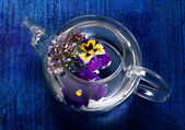 Tea with flowers and herbs. — Stock Photo