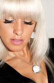 Portret pięknej kobiety blondynka — Zdjęcie stockowe