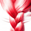 Red hair plaits — Stock Photo