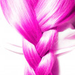 Pink hair plaits — Stock Photo #14852861