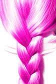 Pink hair plaits — Stock Photo