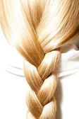 Blonde hair plaits — Stock Photo