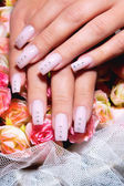 Beautiful nails with Art — Stock Photo