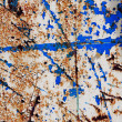 Metal corroded texture with Cracked paint — Stock Photo