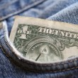 Royalty-Free Stock Photo: Dollar  in the pocket