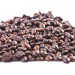 Stock Photo: Heap of coffee beans. Isolated on white background