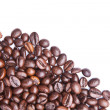 Heap of coffee beans. Isolated on white background — Stock Photo