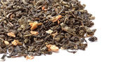 Closeup of chinese silver needle hair down white tea of premium — Stock Photo