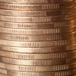Gold coin stack close up — Stock Photo #14423211