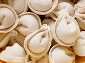 Foodstuff: texture of raw ravioli — Stock Photo