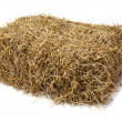 Hay on white background - Stock Photo