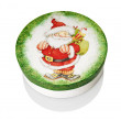 Round Box With Santa Claus — Stock Photo
