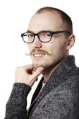 Friendly man with mustache — Stock Photo