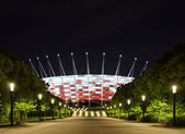 Football stadium at night — Stock Photo