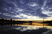 Bridge at night — Stockfoto