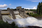 Spillway on hydroelectric power station dam in Imatra — Stock Photo