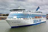 HELSINKI, FINLAND-JULY 22: The ferry Silja Line is moored at the mooring in the city of Helsinki — Stock Photo