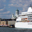 Stock Photo: Ferries at moorings in port of Helsinki