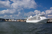 Ferries at moorings in port of Helsinki — Stock Photo