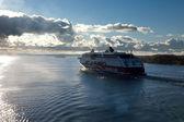 STOCKHOLM,SWEDEN-SEPTEMBER 28: Viking Line ferry float on fjords — Stock Photo