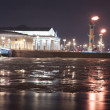 View of spit of Vasilevsky Island at night — Stock Photo #42103823