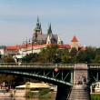 Stock Photo: View of VltavRiver Embankment, Prague