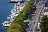 View of the embankment of Stockholm, Sweden — Stock Photo