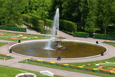PETERHOF, RUSSIA-MAY 21: The fountain in park of Petrodvorets — Stock Photo