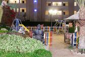 Hurghada, Egitto-dekabr 20: notte Mostra del re tut terr hotel — Foto Stock