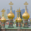 Dome of the house church of the Moscow Kremlin on the background — Stock Photo