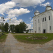 Stock Photo: Yuriev Monastery. St. George's Cathedral. Veliky Novgorod