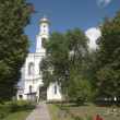 Yuriev Monastery. The bell tower. Veliky Novgorod - Stock Photo