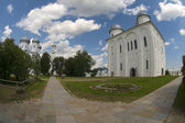 Yuriev Monastery. St. George's Cathedral. Veliky Novgorod — Stock Photo