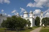 El monasterio de yuriev catedral del salvador. nóvgorod — Foto de Stock