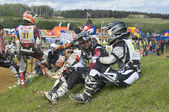 Sportsmen racers waiting to start — Stock Photo