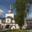 Gate Church of the Archangel Michael. Iversky monastery — Stock Photo