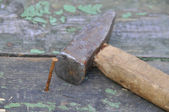 Hammer and nail — Stock Photo