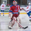 Goalkeeper of CSKA hockey club Rastislav Stania — Stock Photo