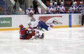 хоккей является очень похож на борьбу — Стоковое фото