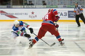 Hockey match CSKA-LEV PRAHA — Stock Photo