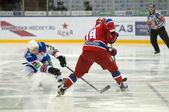 Hockey match CSKA-LEV PRAHA — Stock Photo
