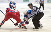 Face-off puck in ice hockey — Stock Photo