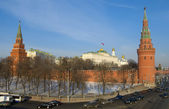 Winter day in Moscow, Russia (The Grand Kremlin Palace and Kreml — Stock Photo