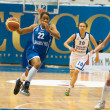 Defender Dynamo-GUVD Novosibirsk Nicole Yvonne Turner (number 22) — Stock Photo