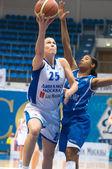 MOSCOW - APRIL 1: Svetlana Abrosimova (number 25) Dynamo — Stock Photo