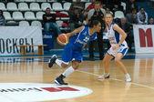 Defender Dynamo-GUVD Novosibirsk Nicole Yvonne Turner (number 22) — Stock Photo